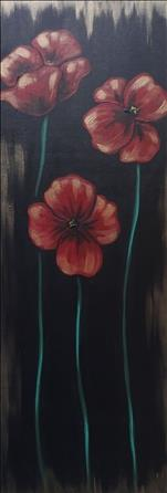 Open Class - Poppies - 10x30 Canvas