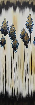 Metallic Forest: 10x30 canvas