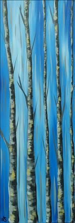 10x30 Canvas! Aspen Trees