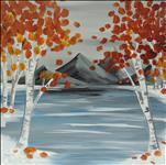 "Frozen Autumn Lake **12""x12"" Canvas!**"
