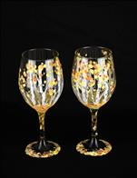 *PUBLIC*  Birch Trees  (2) Wine Glasses