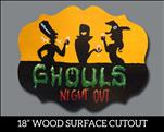 Ghouls Night Out - Wood Cutout