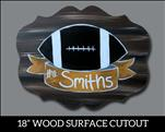 Football Sign Cutout Great Gift for the Man Cave