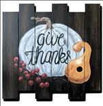 *WOOD CUTOUT* Giving Thanks