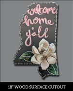 Welcome Home Y'all Door Hanger - Open Class