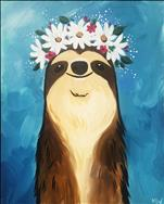 Flower Crown Sloth - ALL AGES!