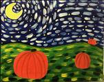 Starry Night Pumpkins! Family Fun Time! All Ages!