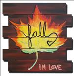 Fall in Love Again Wood Pallet