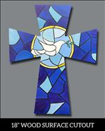 Hope Stainglass Window Cutout