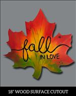 Fall in Love on Wood Cutout