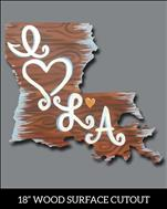 Wood Cutout: I Love LA