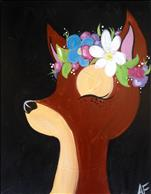 Flower Crown Deer - All Ages!