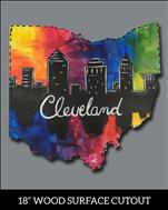 Colorful Cleveland Ohio Cutout