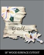 Welcome Y'all LA Cutout