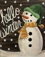 Hello Winter-Rustic snow man