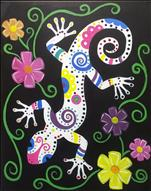 Folk Art Gecko