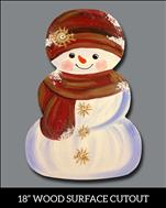 Wooden Cutout! Vintage Frosty