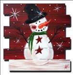 *WOOD PALLET* Holiday Snowman