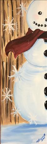 NEW SIZE: 10x30: Hey Mr Snowman