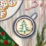 NEW ART-Christmas Cup of Cheer on a 12X12-$30