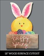 NEW! Easter Happy Spring Chick Cutout
