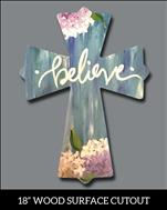NEW!  Believe Cross Cutout - Adults Only