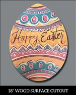 Happy Easter Egg Cutout