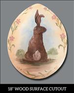 "Vintage Rabbit Egg - 18"" Wood Pallet"
