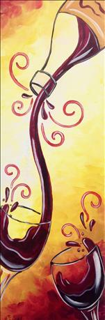 **10x30 LONG CANVAS** Merlot Mischief