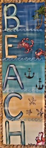 Beach Sign* 10x30 Canvas $35