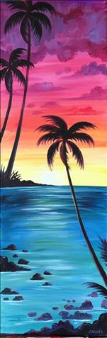 TALL 10x30 Canvas: Sunset Over Maui
