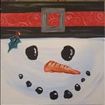 Kid Friendly!Holiday Squares-Snowman, 12x12 Canvas