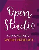 Open Studio Wood Surface Cutout