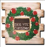 FREE DRINK~WOOD PALLET~Days 'Til Christmas Pallet