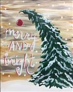 Rustic Merry and Bright 16X20 NEW ART!