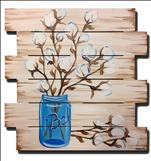 Cotton Beauty Wood Pallet