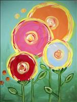 "NEW FAMILY CLASS ART! ""Lollipop Flowers""  Ages 7+"