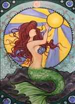 *Large Canvas* Art Nouveau Mermaid