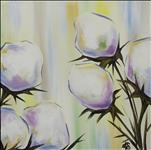 Coffee and Canvas, Pastel Cotton Blossoms