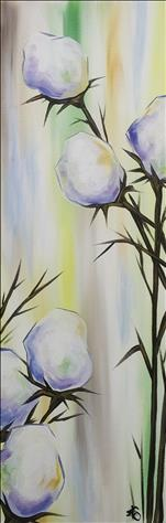 **NEW 10x30 CANVAS!** Pastel Cotton Blossoms