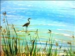New Art! Heron at the Beach