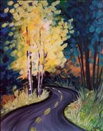 *Coffee & Canvas* The Road Chosen - ONLY $25