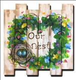 "WOOD CUT OUT! Personalize ""Our Nest"" ADULTS ONLY"