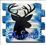 Personalized Deer Silhouette Pallet