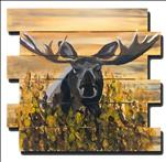 Moose on Ochre Wood Pallet