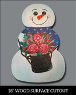 Snowman Winter Bouquet *Wood Cutout*