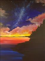 Stargazing Sunset On a 24x36 Canvas!