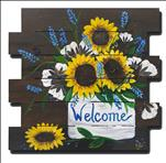 WOODEN PALLET - Sunflower Welcome