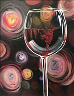 Swirly Glass of Red (Adults 18+)