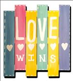 LOVE WINS wood pallet *13+*